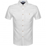 Ted Baker Yasai Oxford Short Sleeved Shirt White