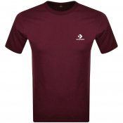 Converse Star Chevron Logo T Shirt Burgundy