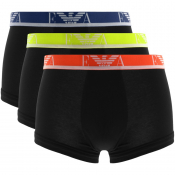 Emporio Armani Underwear 3 Pack Boxer Trunks Black