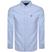 Lyle And Scott Long Sleeve Oxford Shirt Blue