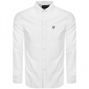 Lyle And Scott Long Sleeve Oxford Shirt White