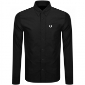 Fred Perry Long Sleeved Oxford Shirt Black
