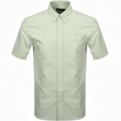 Fred Perry Oxford Short Sleeve Shirt Green
