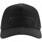 Armani Exchange logo Baseball Cap Black
