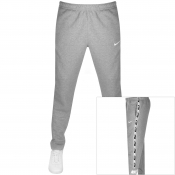 Nike Repeat Logo Taped Jogging Bottoms Grey