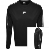 Nike Crew Neck Repeat Sweatshirt Black