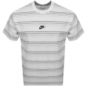 Nike Crew Neck Stripe T Shirt White
