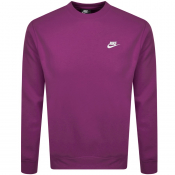 Nike Crew Neck Club Sweatshirt Purple