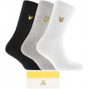 Lyle And Scott Gift Set Three Pack Logo Socks