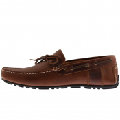 Barbour Leather Clark Shoes Brown