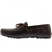 Barbour Leather Clark Shoes Dark Brown