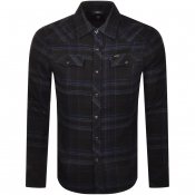 G Star Raw 3301 Flannel Long Sleeved Shirt Black