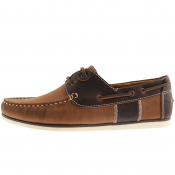 Barbour Leather Capstan Deck Shoes Brown