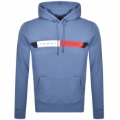 Tommy Hilfiger Logo Pullover Hoodie Blue