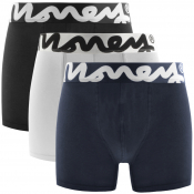 Money 3 Pack Chop Trunks White