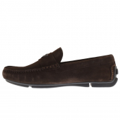 Emporio Armani Suede Driver Shoes Brown