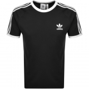 adidas Originals 3 Stripe T Shirt Black