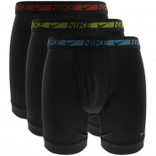 Nike Logo 3 Pack Boxer Briefs Black