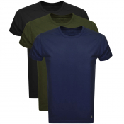 Lyle And Scott Three Lounge Pack T Shirts Black