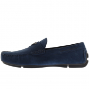 Emporio Armani Suede Driver Shoes Navy