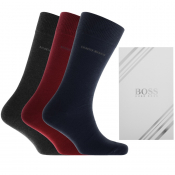 BOSS Triple Pack Socks Gift Set Red