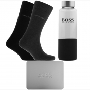 BOSS Two Pack Sock And Drinks Bottle Gift Set