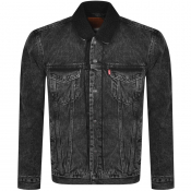 Levis Denim Sherpa Trucker Jacket Black