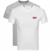 Levis Original Two Pack Crew Neck T Shirt White