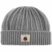 Pretty Green Weller Beanie Hat Grey