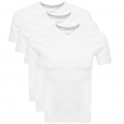 BOSS Triple Pack V Neck T Shirts White