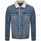 Levis Sherpa Trucker Denim Jacket Blue
