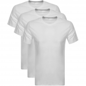 Calvin Klein 3 Pack Crew Neck T Shirts White