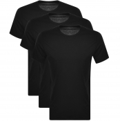 Calvin Klein 3 Pack Crew Neck T Shirts Black