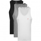 Farah Vintage Lounge Vests 3 Pack Grey