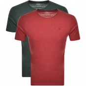 Farah Vintage Lounge T Shirts 2 Pack Red