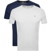 Farah Vintage Lounge T Shirts 2 Pack Navy