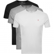 Farah Vintage Lounge T Shirts 3 Pack Black
