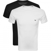 Emporio Armani Lounge 2 Pack T Shirts White