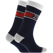 Tommy Jeans Two Pack Socks Navy