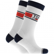 Tommy Jeans Two Pack Socks White