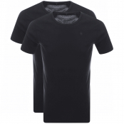 G Star Raw 2 Pack Base T Shirt Navy