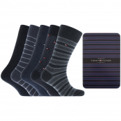 Tommy Hilfiger Five Pack Socks Blue