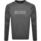 BOSS Bodywear Crew Neck Sweatshirt Grey