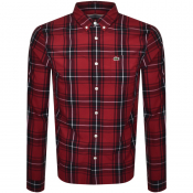Lacoste Checked Long Sleeved Shirt Red