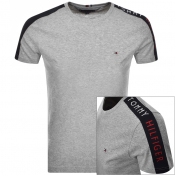 Tommy Hilfiger Logo Sleeve Tape T Shirt Grey