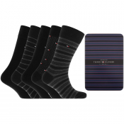 Tommy Hilfiger Five Pack Socks Black