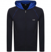 BOSS Bodywear Lounge Full Zip Hoodie Navy