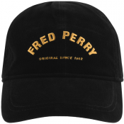 Fred Perry Corduroy Logo Cap Black