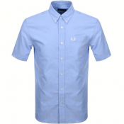 Fred Perry Oxford Short Sleeve Shirt Blue
