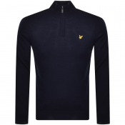 Lyle And Scott Half Zip Jumper Navy
